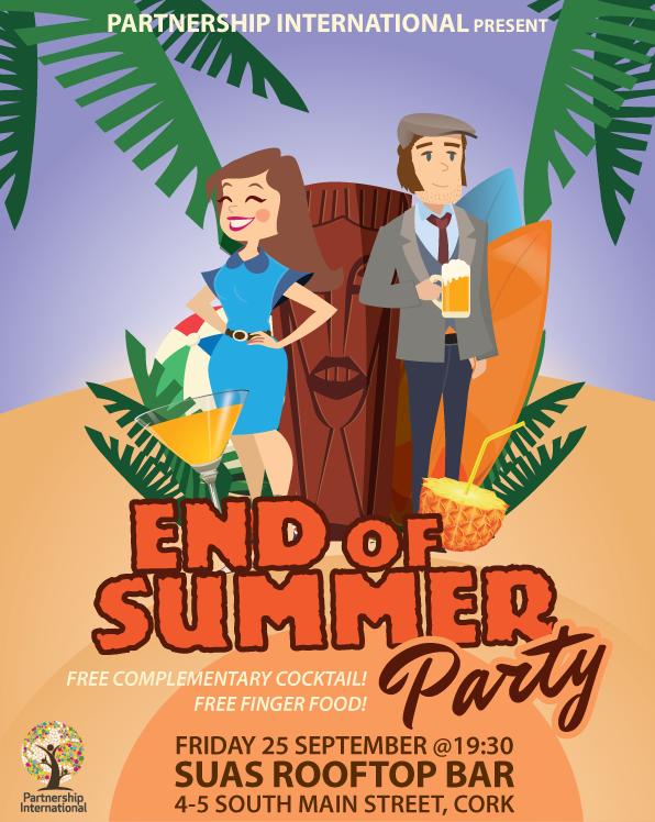 end of summer party partnership international. Black Bedroom Furniture Sets. Home Design Ideas